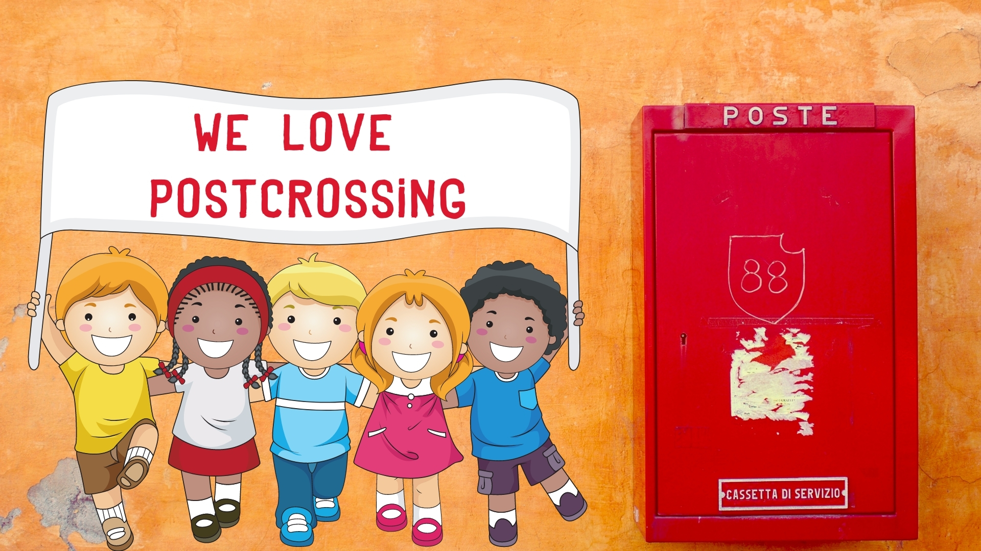 we love postcrossing for children kids