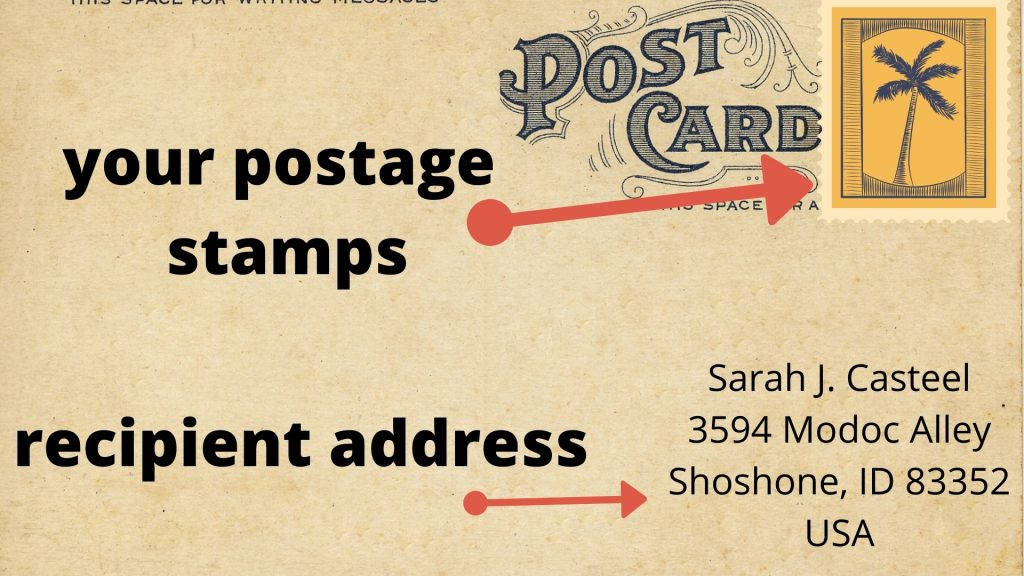 Where to write the address on the postcard