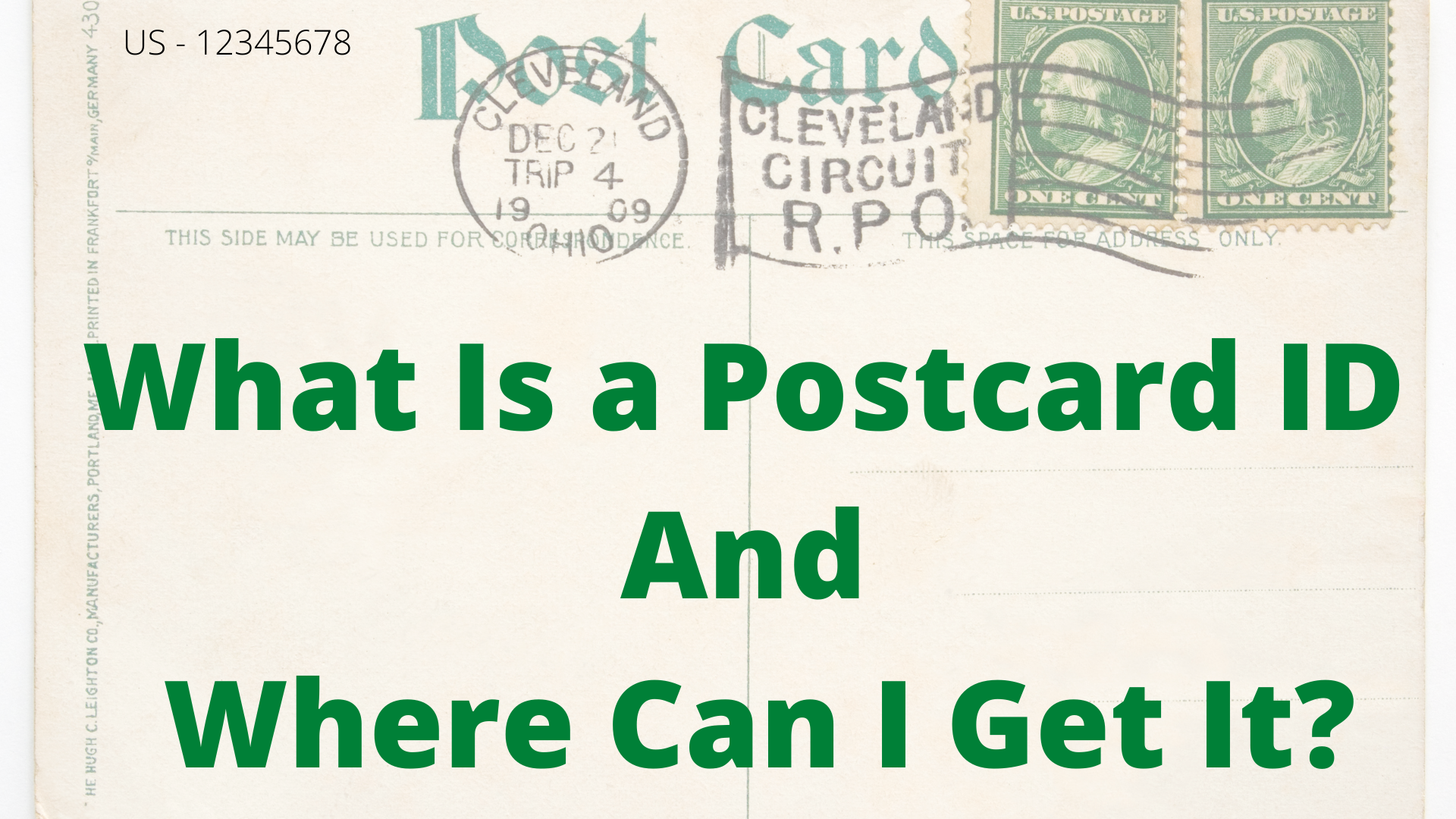 What is a postcard ID in Postcrossing, and where can I get it